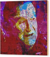 Robin Williams Paint Splatter Wood Print
