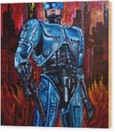 Robocop Wood Print