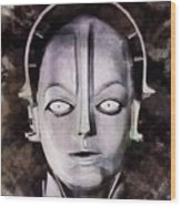 Robot From Metropolis Wood Print