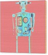 Robot 4 Wood Print
