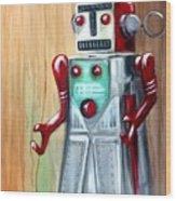 Robot Man Wood Print