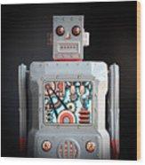 Robot R-1 Square Wood Print