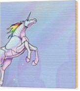 Robot Unicorn Attack Wood Print