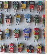 Robots Wood Print