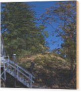 Roche Harbor Chapel In San Juan Island Wood Print