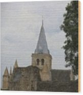Rochester Cathedral Art Wood Print