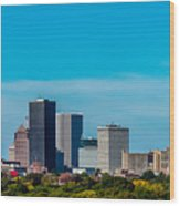 Rochester Ny Skyline Wood Print