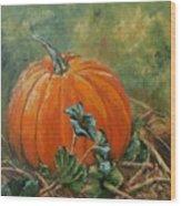 Rochester Pumpkin Wood Print