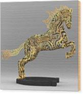 Rocinante Bronze Sculpture Wood Print