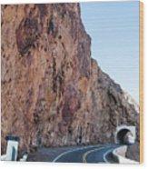 Rock And Road Wood Print