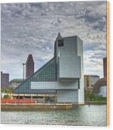 Rock And Roll Hall Of Fame Wood Print by Robert Pearson