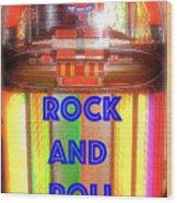 Rock And Roll Jukebox Wood Print