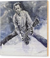 Rock And Roll Music Chuk Berry Wood Print