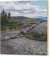 Rock Boundaries On Casecade Mountain Keene Ny New York Wood Print