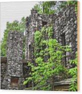 Rock Castle Fireplace Wood Print