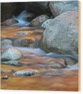 Rock Cave Reflection Nh Wood Print