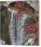 Rock City Falls Wood Print