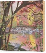 Rock Creek Autumn Wood Print