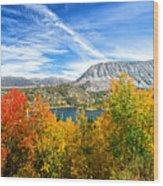 Rock Creek Lake Fall Panorama Wood Print