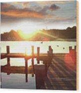 Rock Creek Morning Wood Print