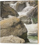 Rock Creek Snow Melt Wood Print