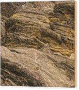 Rock Cropping Wood Print