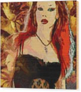 Rock Diva Wood Print