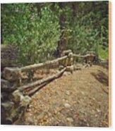 Rock Fence Wood Print