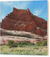 Rock Formation Of La Sal Mountains Wood Print