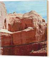 Rock Formation Of Red Sandstone Arches National Park Wood Print