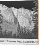 Rock Formation Yosemite National Park California Wood Print