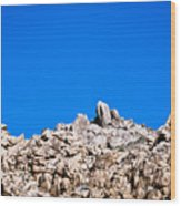 Rock Formations And Blue Sky Wood Print