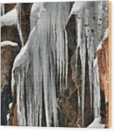 Rock Ice Wood Print