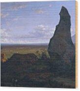 Rock In Montserrat Wood Print