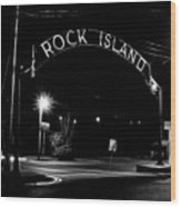 Rock Island Entrance Wood Print