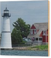 Rock Island Lighthouse July Wood Print