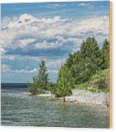 Rock Island Summer Wood Print