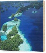 Rock Islands Aerial Wood Print