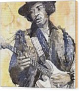 Rock Jimi Hendrix 02 Wood Print