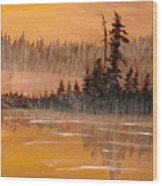 Rock Lake Morning 3 Wood Print