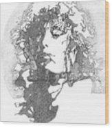 Rock Legend Wood Print by Karen Clark