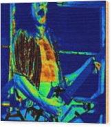 Rock 'n' Roll The Cosmic Blues Wood Print
