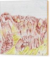 Rock Outcrop Wood Print