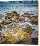 Rock Pier Wood Print