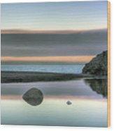 Rock Reflections Wood Print
