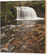 Rock River Falls Wood Print