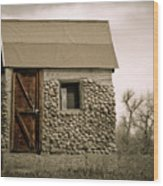 Rock Shed 2 Wood Print