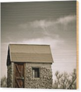 Rock Shed Wood Print