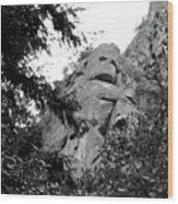 Rock Spirits At Yosemite B And W Wood Print