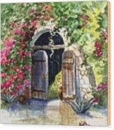 Rock Springs Gate Wood Print